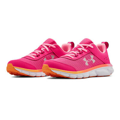 Under Armour Boys GS Assert 8 Running Shoes Trainers Sneakers - Pink Sports