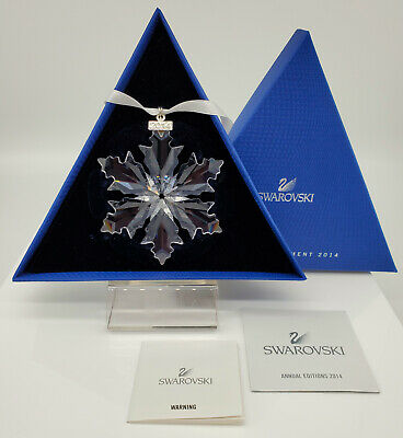 2014 Swarovski Christmas Ornament Star Snowflake Swarovski Annual Ornament