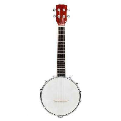 4 String Banjo High Quality With Closed Back Brackets Head & Maple Neck