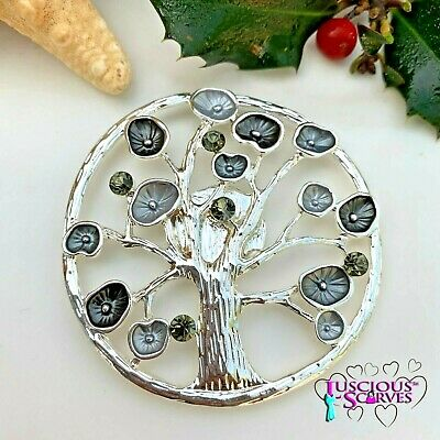 Magnetic Brooch Scarf Pin Clip Forest Tree Design