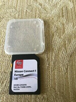New Nissan Connect 1 Sat Nav Lcn1 Navigation Sd Card V8 2017 / 2018 Maps