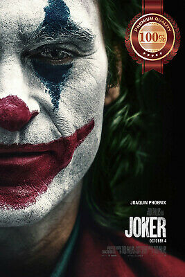 New Joker 2019 Face Paint Dc Official Original Cinema Movie Print Premium Poster