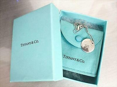 Tiffany & Co. Authentic Notes Disc Necklace Initial Letter A Sign Peretti SV925