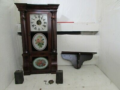 Antique Seth Thomas 8-Day Triple Decker Wall Clock With Shelf