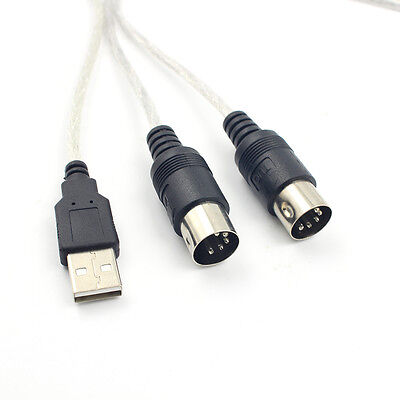Digital USB IN-OUT MIDI Interface Cable Converter PC to Music Keyboard Cord、v ZS
