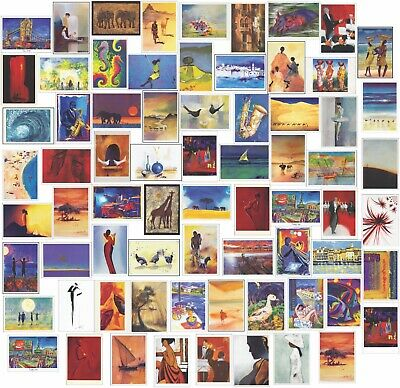 100 Different Blank  Artistic Greeting Cards Birthdays or Occasions Modern Art