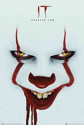 It Chapter 2 Pennywise Face Stephen King 91.5X61Cm  Poster New Official Merch