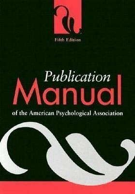NEW - Publication Manual of the American Psychological Association