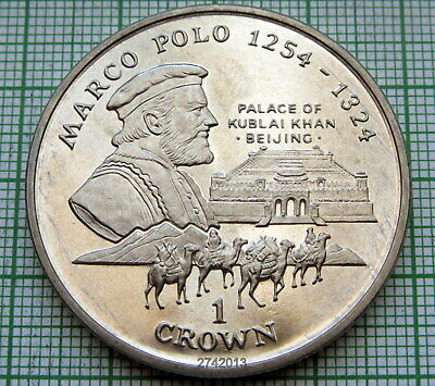 Isle Of Man 1998 Crown, Marco Polo, Bu