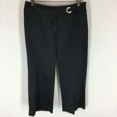 White house black market woman's satin crop pants size 8 Evening Formal