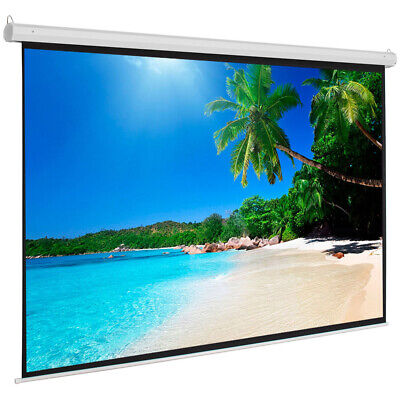"""100"""" 4:3 Material Electric Motorized Indoor Projector Screen+Remote Home Theater"""