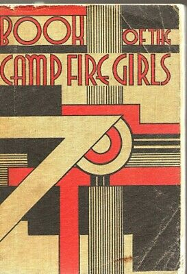 Book of the Camp Fires Girls, early 1938 copy, linen cover