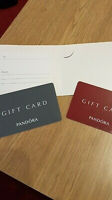 Pandora Jewellery Gift Card/Vouchers Expires August 2020 Total Value £85.