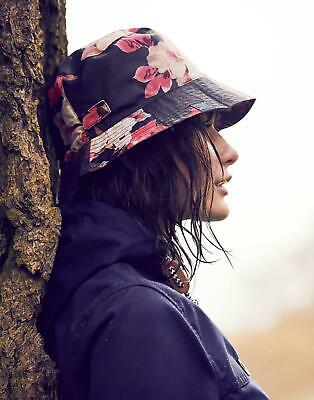 Joules Womens Rainy Day Waterproof Hat in NAVY BIRCHAM BLOOM in One Size