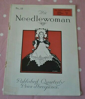 Antique/Vintage 1920s magazine 'The Needlewoman' No 12 - Embroidery/knitting etc