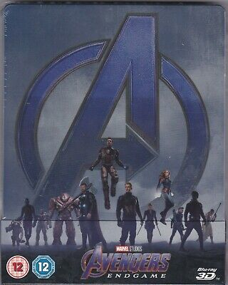 Avengers: Endgame - Steelbook (Blu-ray + 3-D, New & Sealed) Great Christmas Gift