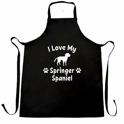 Dog Owner Chef's Apron I Love My Springer Spaniel Pet Lover Cute Breed