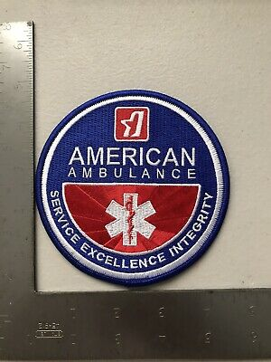 American Ambulance Fresno King County California Firefighter EMS Contract Patch