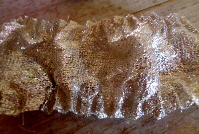 """Antique Silver Metallic Lame Small Piece For Artisans 6"""" By 2 1.4"""""""