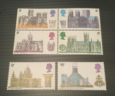 GB Great Britain QEII 1969 Cathedrals fresh Unmounted mint stamps MNH