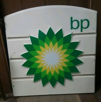 Original 52 x48 in British Petroleum BP Service Gas Station Sign Plastic awesome
