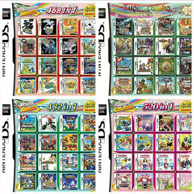 520/500/486/482/468/488/208 In 1 Video Game Card For NDS 2DS 3DS NDSI NDSL Xmas