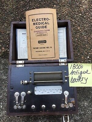 "VINTAGE QUACK :SIGNAL"" MEDICAL"" Voltamp Portable Double Cell Fraadic Battery"