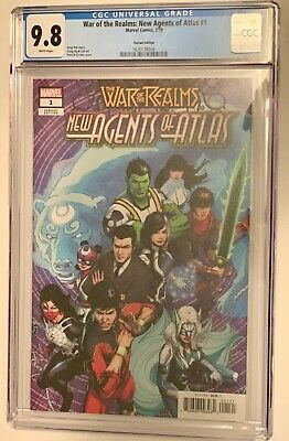War of the Realms New Agents of Atlas #1 CGC 9.8 Zircher Variant Edition Marvel