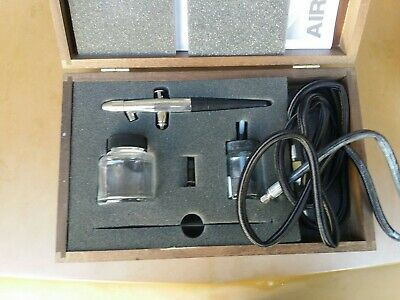 Vintage Badger Crescendo AirBrush Kit Model 175 Made In USA 175 with wood Box