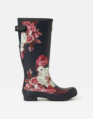 Joules 207362 Wellies With Adjustable Back Gusset in NAVY BIRCHAM BLOOM