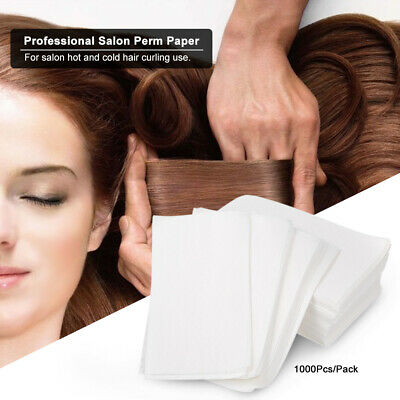 1000Pcs/Pack Professional Salon Perm Paper Disposable Hot Cold Hair Curling G8U5