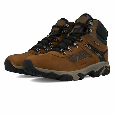 Hi-Tec Mens Ravus Quest Lux Mid WP Walking Boots Brown Sports Outdoors