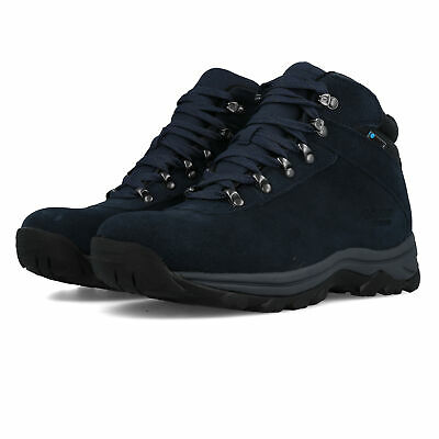 Hi-Tec Mens Europeak WP Walking Boots - Navy Blue Sports Outdoors Waterproof