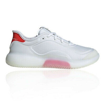adidas Womens by Stella McCartney Boost Court Tennis Shoes - White Sports