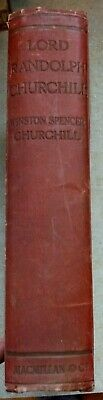 Vintage Lord Randolph Churchill Book by Winston Spencer Churchill 1907