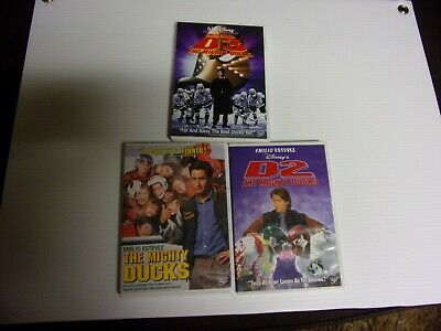 The Mighty Ducks 1/2/3  The Trilogy  Dvd Lot Of All 3 Films