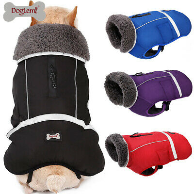 Winter Waterproof Pet Dog Thick Warm Fleece Coat Jacket Vest Small Large Dog