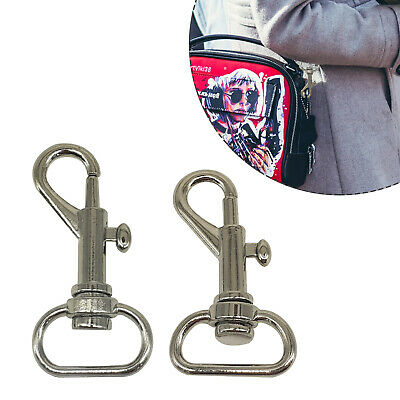 Silver Bag Clasps Lobster Trigger Swivel Clips Snap Hook Keyring Key Findings