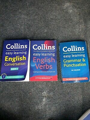 Collins Easy Learning Books Set English conversation b, verbs and grammar