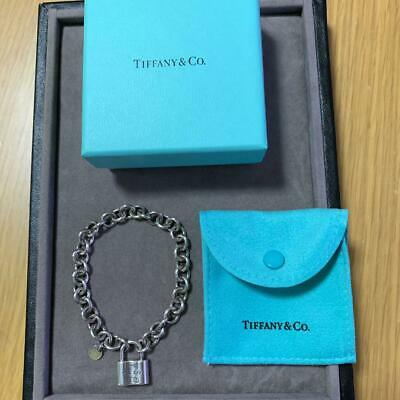 Tiffany & Co. Authentic Sterling Silver 925 1837 Lock Charm Bracelet Bangle RARE