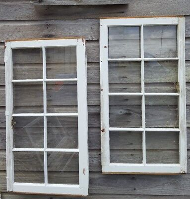 Architectural Salvage - Distressed ANTIQUE WINDOW SASH - C. 1950 36x19 SET OF 2