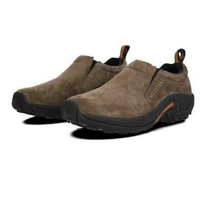 Merrell Jungle Moc Mens Brown Slip On Suede Upper Walking Camping Shoes Trainers