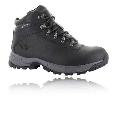 Hi-Tec Mens Eurotrek Lite Waterproof Walking Boots Black Sports Outdoors