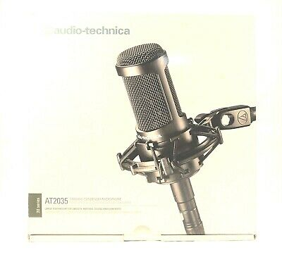 Audio-Technica Cardioid Condenser Microphone AT2035 Switchable 80 Hz & 10 dB Pad