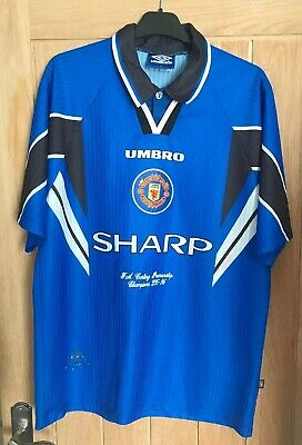 Manchester United 1996 1997 Away 3rd Shirt RARE Embroidered League Champions