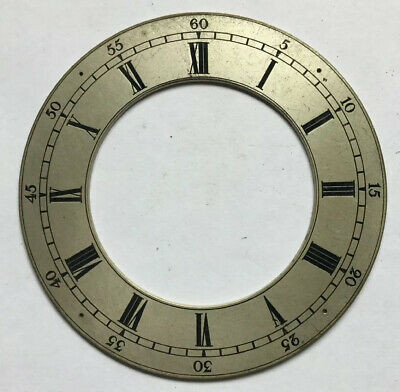 Vintage  Silvered Brass Bracket Clock Chapter Ring