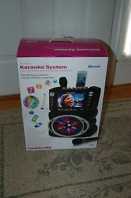 "Karaoke USA GF842 DVD/CDG/MP3G Karaoke Machine w 7"" TFT Color Screen, Open Box!"