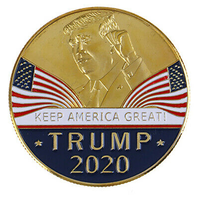 US President Trump 2020 Speech Crafts Metal Commemorative Coin Medal Collect ZSH