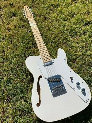 Great Playing New 12 String Vintage White Semi-Hollow Tl. Style Electric Guitar