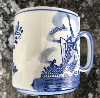 Jarra Ceramica - Hand Painted Delft Blue - Holland